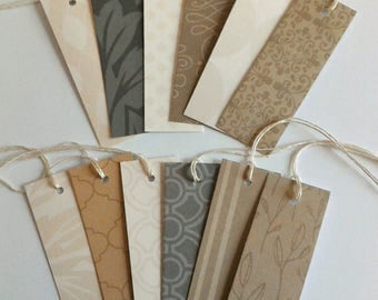 100 Skinny Tags, Gift tags, Favor tags, Price tags