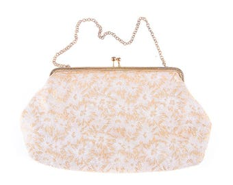 Imprinted Flower  Evening/Handbag