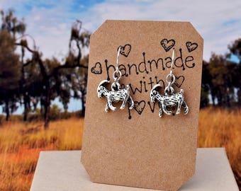 Little Goat Earrings - Billy Goat Earrings - Goat Gifts, Goat Jewelry, Goat Charm Earrings, Animal Earrings, Surgical Steel Ear Wires
