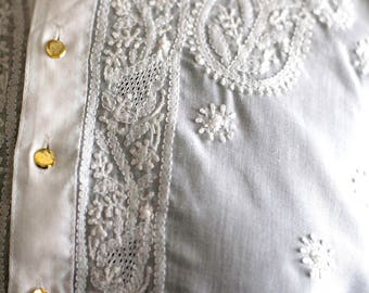 Embroidered Indian Caftan w. Pockets