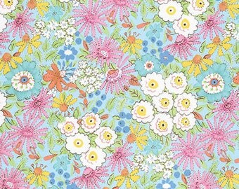 1/2 Yd Meadow Morning Glory by Dena Designs for FreeSpirit Fabrics PWDF239.PINKX