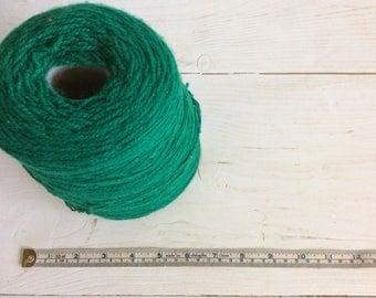 Green Wool - Green Yarn Cone - 4 Ply Wool - Hand Knitting Yarn - Knitting Machine Wool - Bramwell Acrylic Wool - Acrylic Yarn - Crochet Wool
