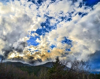 Nature Cloudy Skies Photography, Cloudy skies Photography, HDR Photography print, Colorful Art photography, High Dynamic Range Photography