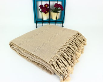 Stone Washed Beige Turkish Towel,Turkish Beach Towel in Beige,Turkish Beach Peshtemal,Stone Washed Turkish Bath Towel in Beige