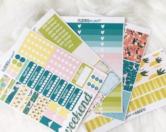 HUGE SALE! Tropical Summer Planner Kit (for Vertical Erin Condren Life Planner)