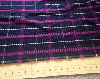 Black Wool Blend Plaid