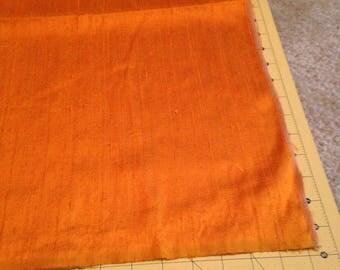 Orange Silk Dupioni