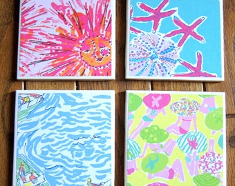 Lilly Pulitzer Coasters | Set of 4 | Mothers Day | Housewarming | Newlywed