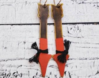 Gold Earrings, Tribal Earrings, Arrow Earrings, Long Earrings, Boho Earrings, Native Earrings, Modern Earrings, Bar Earrings, Dangle Earring