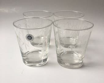 vintage sasaki bamboo etched rocks glasses set of 4 sasaki vintage rocks glasses whiskey