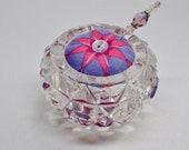 Saltcellar Pincushion - Alison Glass - Purple and Pink