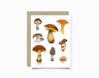 Greeting card - Wild Mushrooms