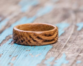 Kentucky Bourbon Barrel Wood Ring - Whiskey Barrel Ring Wooden Ring Men Wedding Band Engagement Ring Wood Anniversary Gift Groomsmen Gift