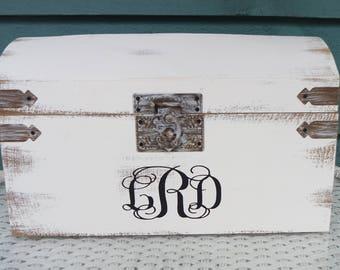 Card Box for Wedding, Wedding Card Box, Rustic Card Box, Spring Wedding Box, Rustic Card Trunk,  Custom Card Box, Keepsake Box, Card Box