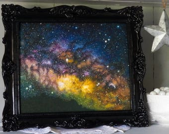 """8"""" x 10"""" Limited Edition Print   Closed set of 10   Titled 'La Palma Milky Way'   Giclee   Galaxy Art   Space Art   Milky Way   Oil Painting"""