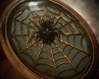 Vintage spider cuff links