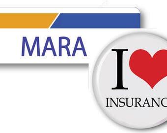 MARA From Progressive Insurance Halloween Costume Name Badge Tag magnet Fastener & Button Ships ASAP FREE