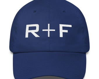 Navy Rodan And Fields Hat Embroidered, Rodan and Fields Pink Hat Unstructured 6 Panel Made in the USA