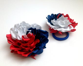 Red white blue Hair bow American flag Independence day Headband Fourth of July 4th celebration Patriotic bow 4th of July party American flag