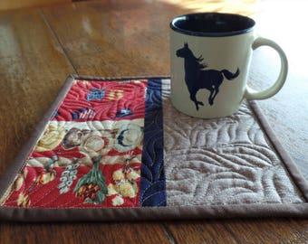 Western Mug Rug, Cowboy Mug Rug, Snack Mat, Candle Mat, Secret Sister, Teacher, Hostess, or Co-Worker Gift, FREE SHIPPING! #2