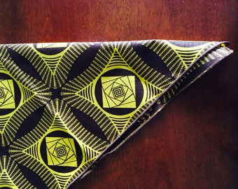 Ankara Bandana, Yellow Bandana, Brown Bandana, Womens Bandana