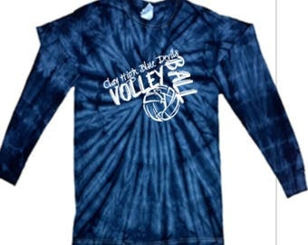Clay High Volleyball Tie Dye Long Sleeve