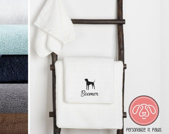 Coon hound Embroidered Towel