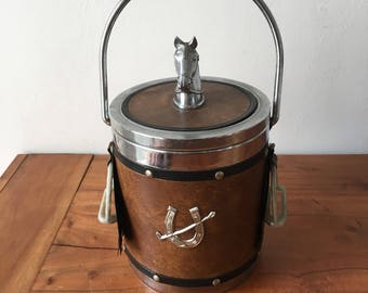 Vintage Horse Detailed Ice Bucket