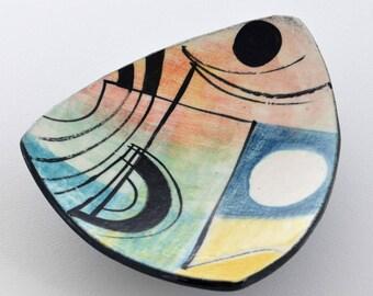 mid century modern hand made bowl