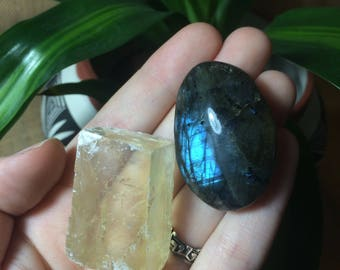 Crystal Set- Labradorite & Optical Calcite