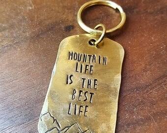 Mountain Life Keychain