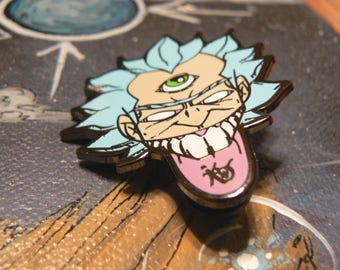 Rick Sanchez Enamel Pins - Third Eye Rick Enamel Pins - Rick and Morty Enamel Hat Pin. Enamel Hat Pin