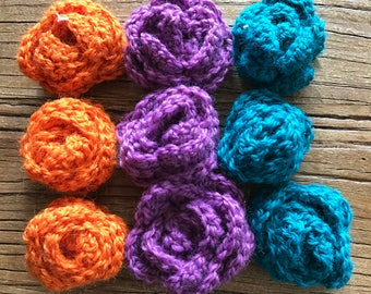 Hand crocheted roses