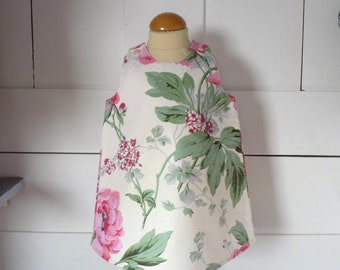 dress printed 9 month white off girl with flowers in pink / green