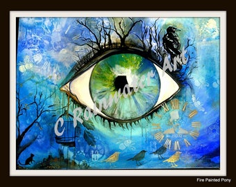 "Acrylic Painting ""Eye of The soul"" by C.Rainwater"