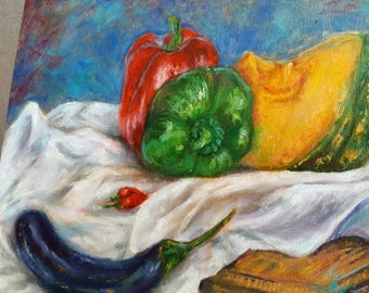Still Life with Vegetables (Oil painting)