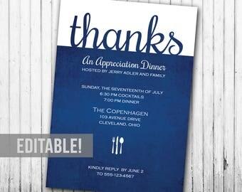 Appreciation Dinner Party Invitation