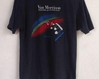 Rare Vintage Van Morrison spring tour 1983 Dominion Theatre t shirt L