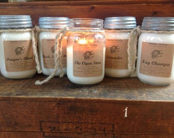 WHOLESALE 16 OZ. Large, Hand-poured, All Natural Wax Blend - Coconut, Apricot and Soy