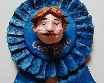 Pabst Blue Ribbon PBR papier mache art