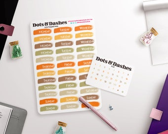 Pumpkin Patch Planner date covers   planner stickers   planner date covers   date covers   day covers   vertical date covers   DC41