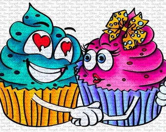 Image #75 - Love Muffins digital Stamp by Sasayaki Glitter - Naz Smith - Black and White - Lineart only