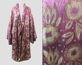1920s Floral Lamé Coat