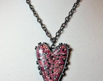 Folkart Heart Pendant Necklace