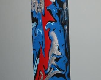 4X12 Original Flow Art painting, acrylic on canvas