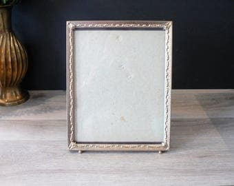 8 x 10 Vintage 50's Embossed Muted Gold Metal Photo Frame