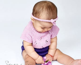 Photography prop sitter size baby girl  6-12 with headband