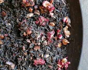 Organic Dark Chocolate Cherry Tea Blend, Organic Loose Leaf Tea, Herbal Fruit Tea Blend,  Chocolate Cherry Tea, Loose Leaf Tea Blend, Vegan