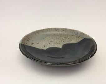 Side Plate in Black and Grey - side plate, salad plate, toast plate