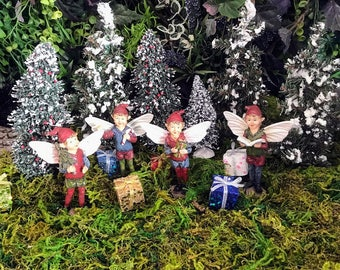 Miniature Christmas Boy Fairies / Elves - 4 Designs to Choose From!